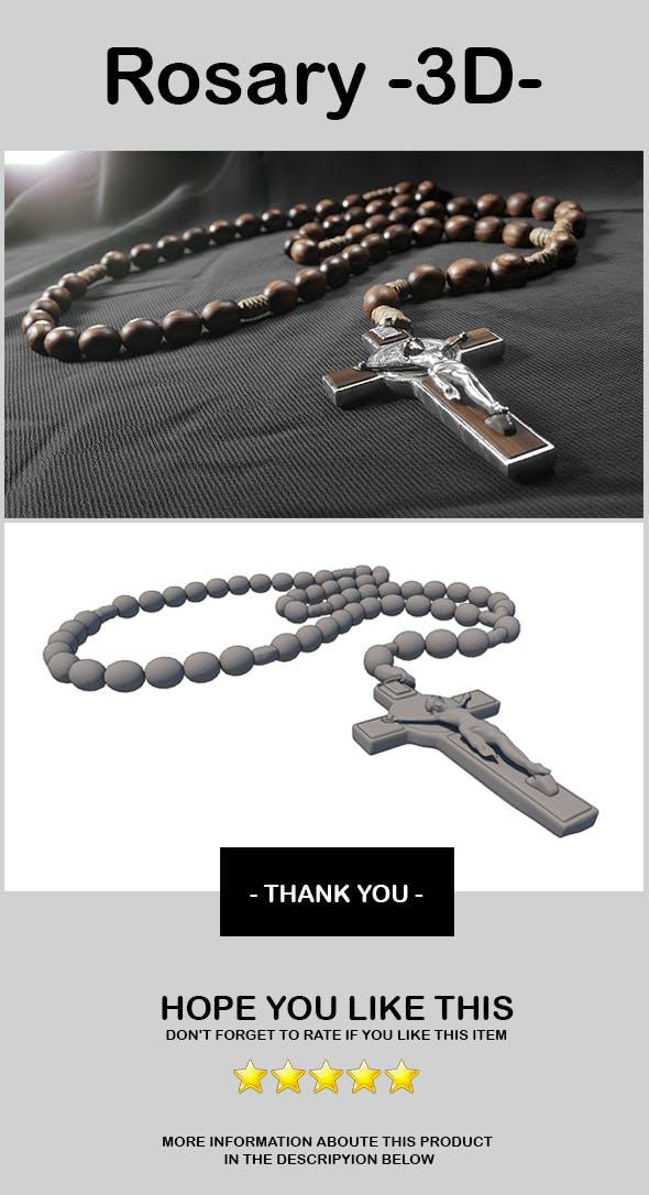 3D Model - Rosary - 3DOcean Item for Sale