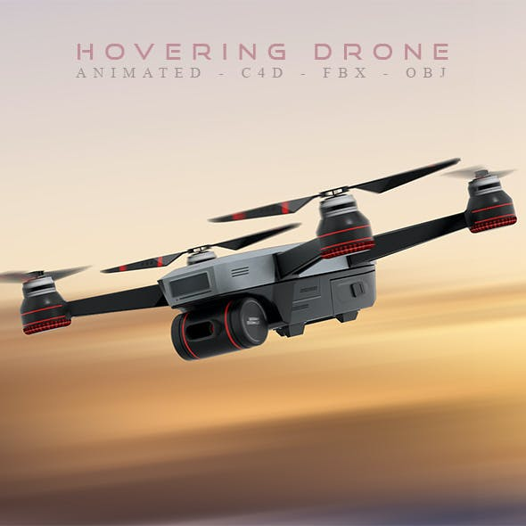 Animated Hovering Drone
