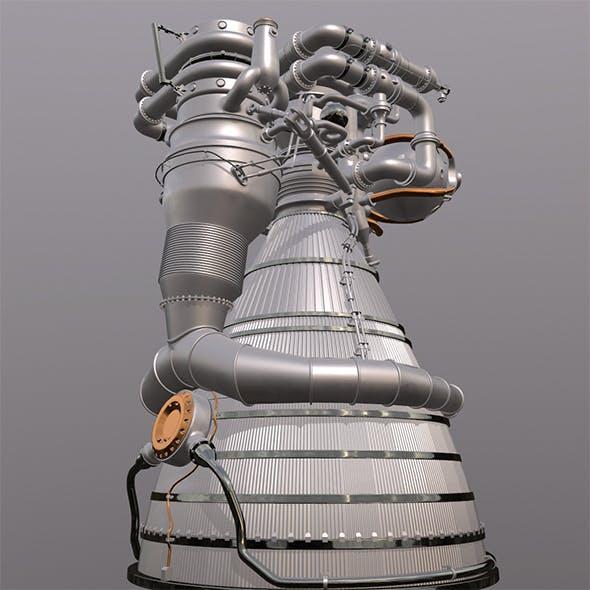 Rocket Engine J1F1C - 3DOcean Item for Sale
