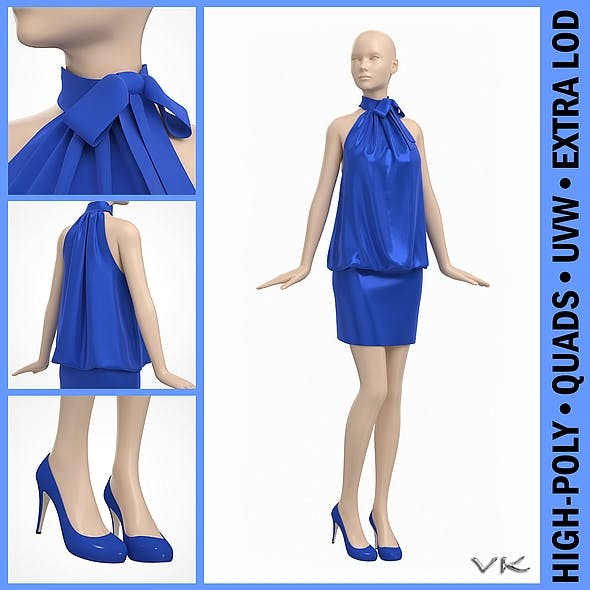 Cocktail Party Dress on Female Mannequin