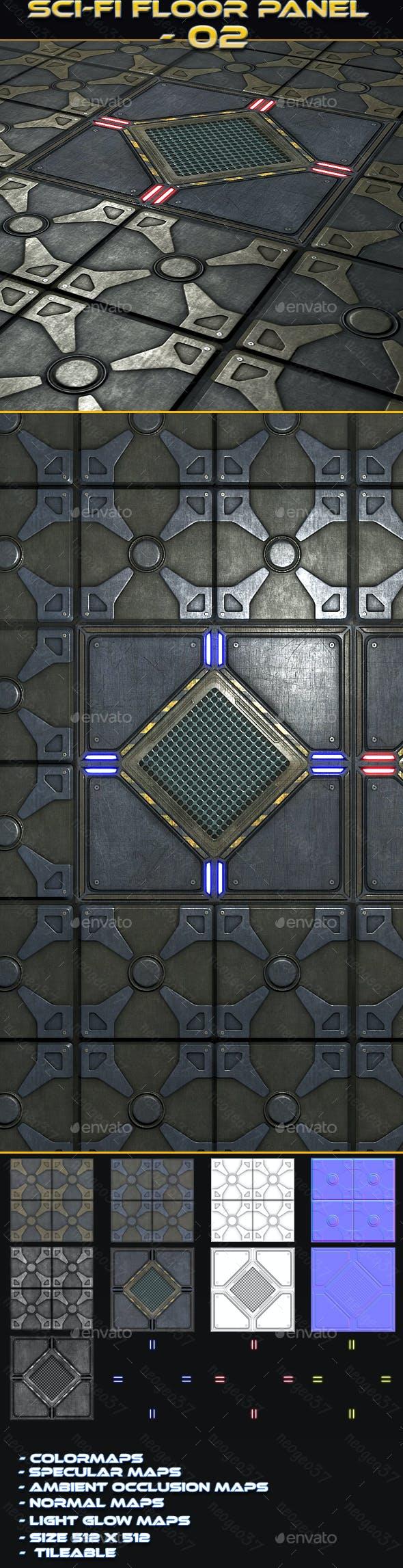 Sci-fi Floor Panel 02 - 3DOcean Item for Sale