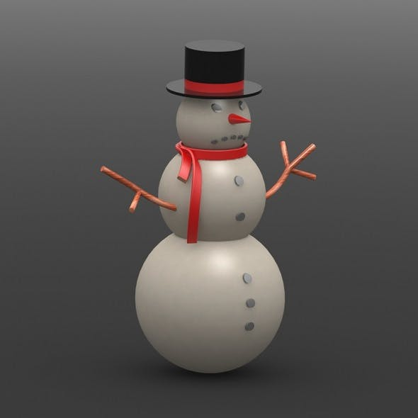 Angry Snowman - 3DOcean Item for Sale
