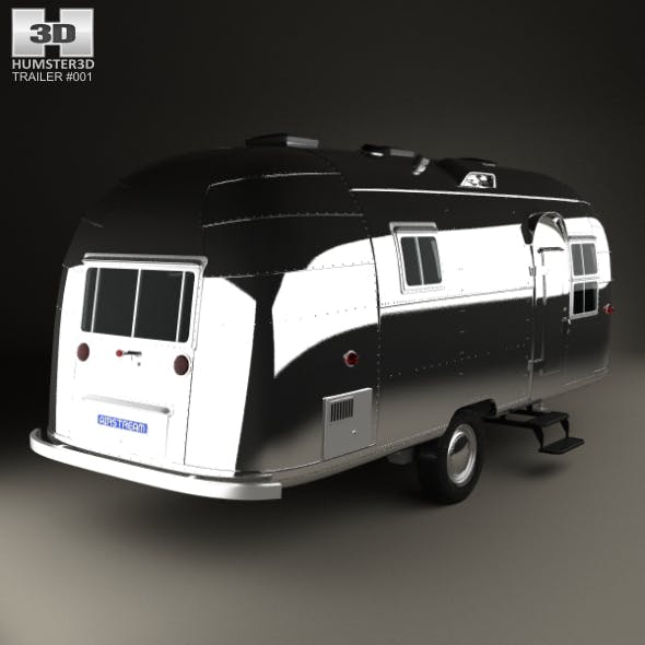 Airstream Flying Cloud Travel Trailer 1954 - 3DOcean Item for Sale