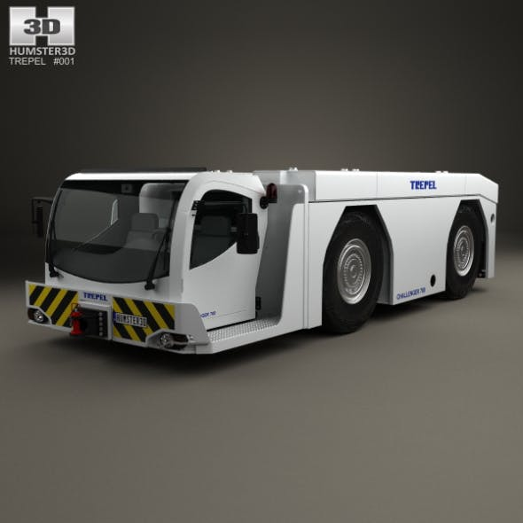 Trepel Challenger 700 Aircraft Tractor 2015 - 3DOcean Item for Sale