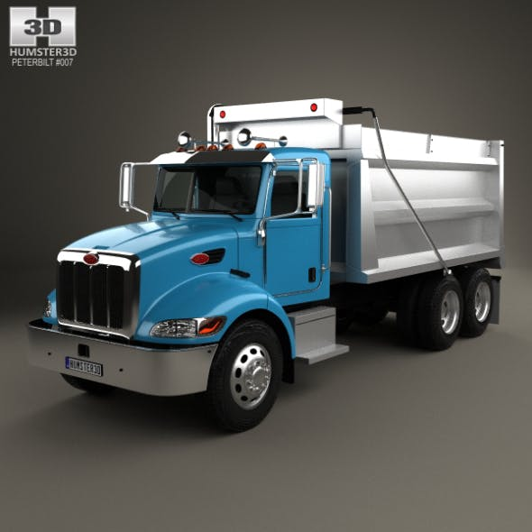 3-axle and Peterbilt CG Textures & 3D Models from 3DOcean