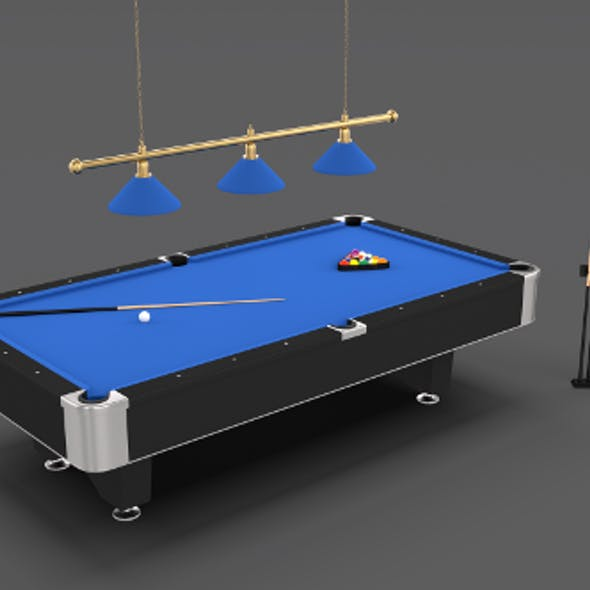 8 Ball Pool Table Setting Blue