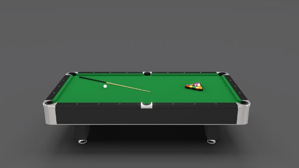 8 Ball Pool Table - 3DOcean Item for Sale