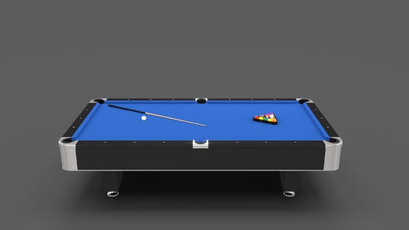 8 Ball Pool Table Blue - 3DOcean Item for Sale