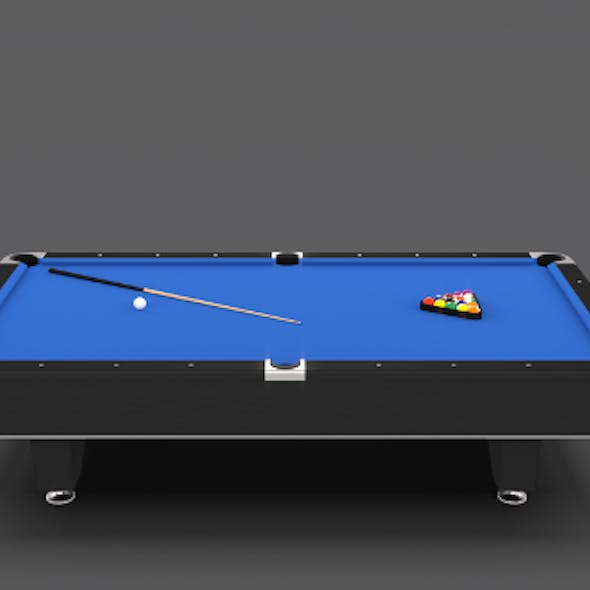 8 Ball Pool Table Blue