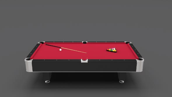 8 Ball Pool Table Red - 3DOcean Item for Sale