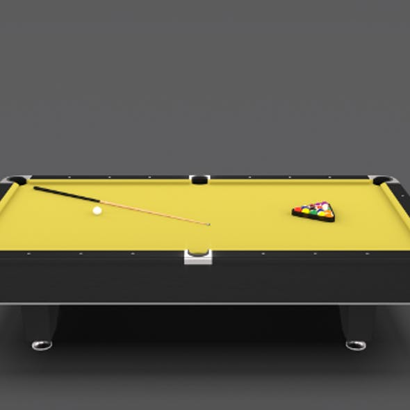 8 Ball Pool Table Yellow
