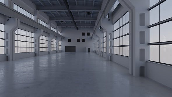Factory Hall Interior 3 - 3DOcean Item for Sale