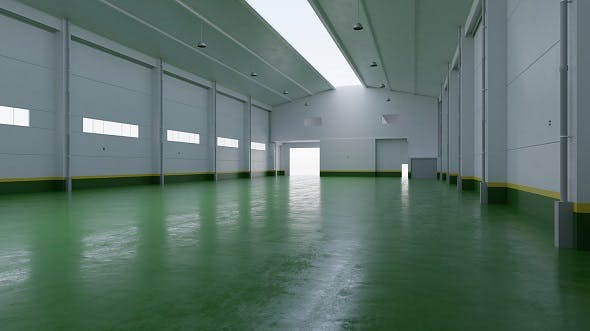 Factory Hall Interior 4 - 3DOcean Item for Sale