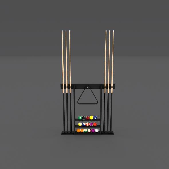 8 Ball Pool Rack - 3DOcean Item for Sale