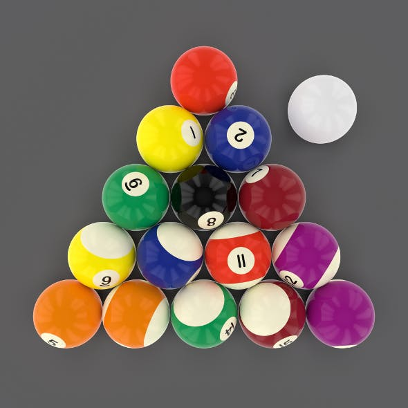 Pool Ball Pack - 3DOcean Item for Sale