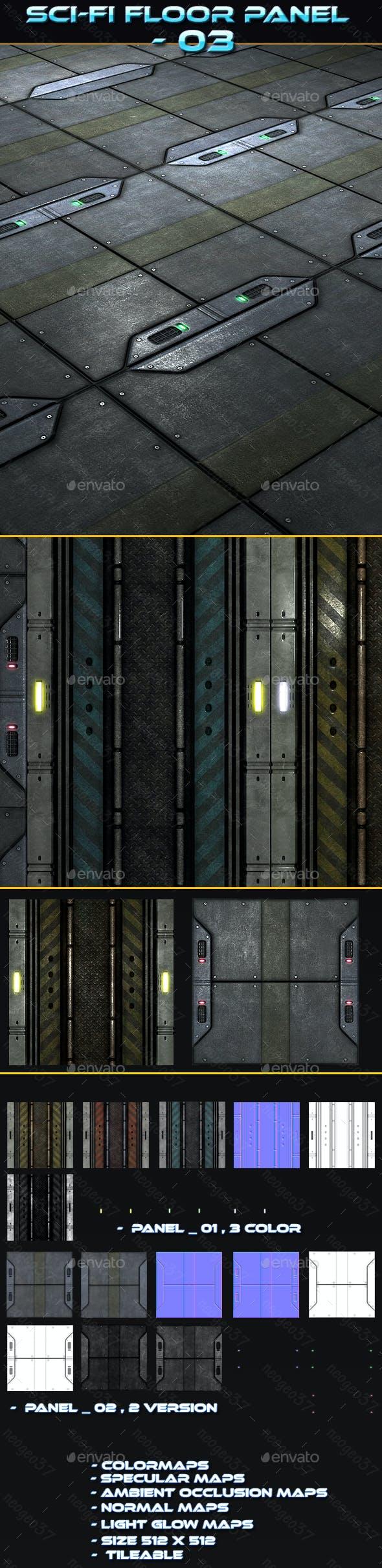Sci-fi Floor Panel 03 - 3DOcean Item for Sale