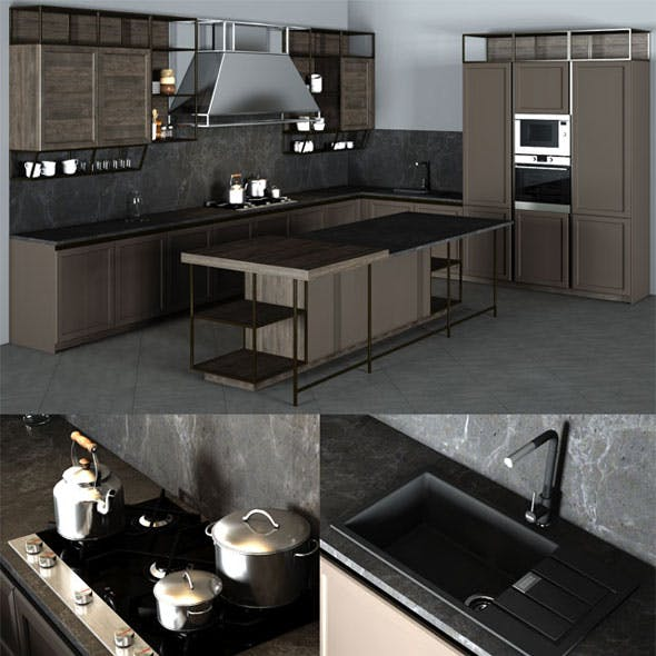 Frame Snaidero Kitchen Furniture