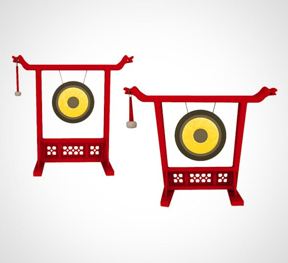 Chineese Gong realistic and cartoon style - 3DOcean Item for Sale