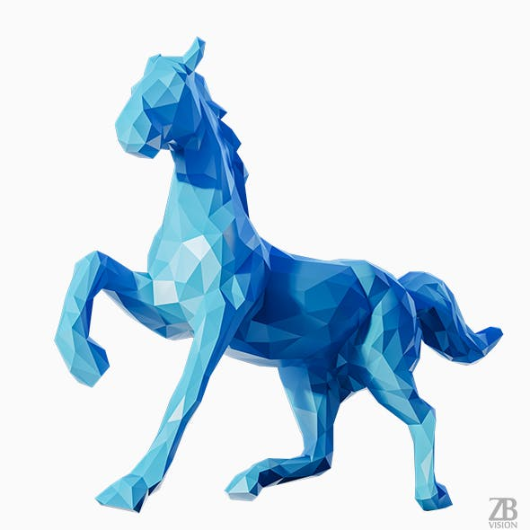 Lowpoly Horse 002