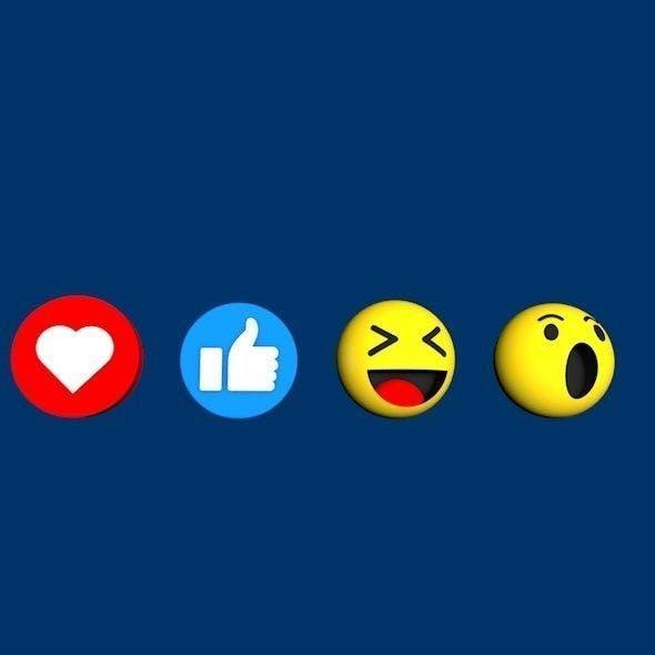 Facebook Emoji Pack - 3DOcean Item for Sale