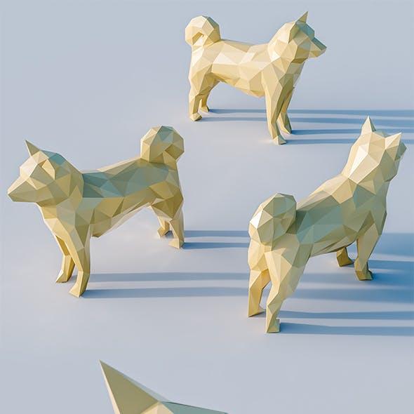 Lowpoly Dog 001