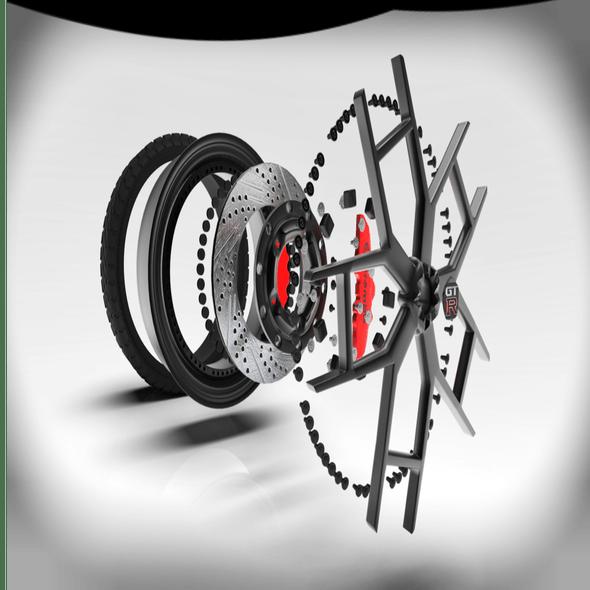 3D model of wheel for Nissan GTR R-35 - 3DOcean Item for Sale