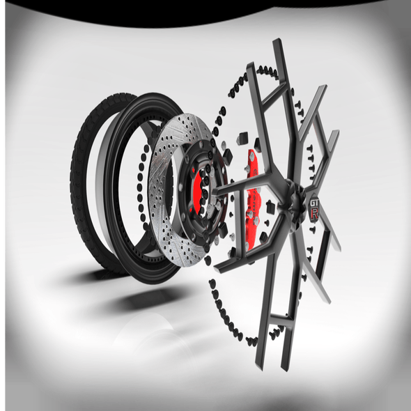 3D model of wheel for Nissan GTR R-35