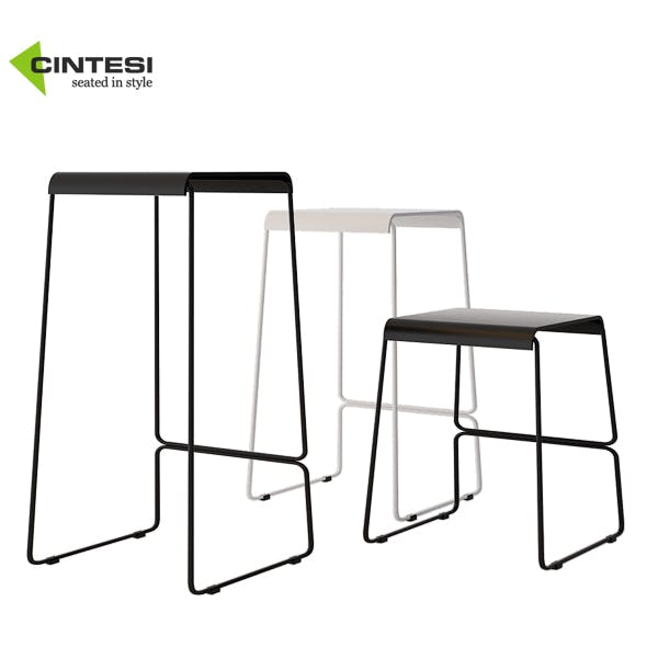 Cintesi Detroit Wire Bar Stool - 3DOcean Item for Sale