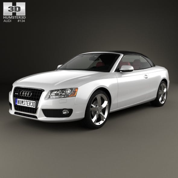 Audi A5 Cabriolet with HQ interior 2009 - 3DOcean Item for Sale