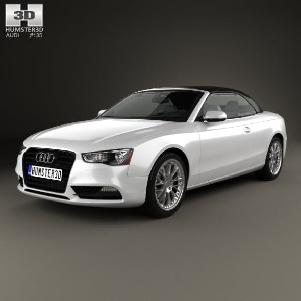 Audi A5 Cabriolet with HQ interior 2012 - 3DOcean Item for Sale