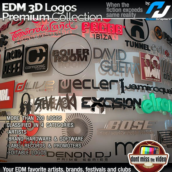 EDM(Electronic Dance Music) Logos Premium Collection