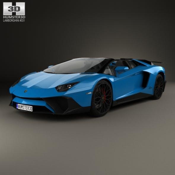 Lamborghini Aventador LP 750-4 Superveloce Roadster 2015 - 3DOcean Item for Sale