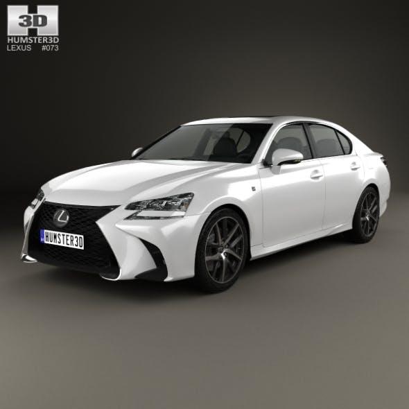 Lexus GS F Sport 2015 - 3DOcean Item for Sale