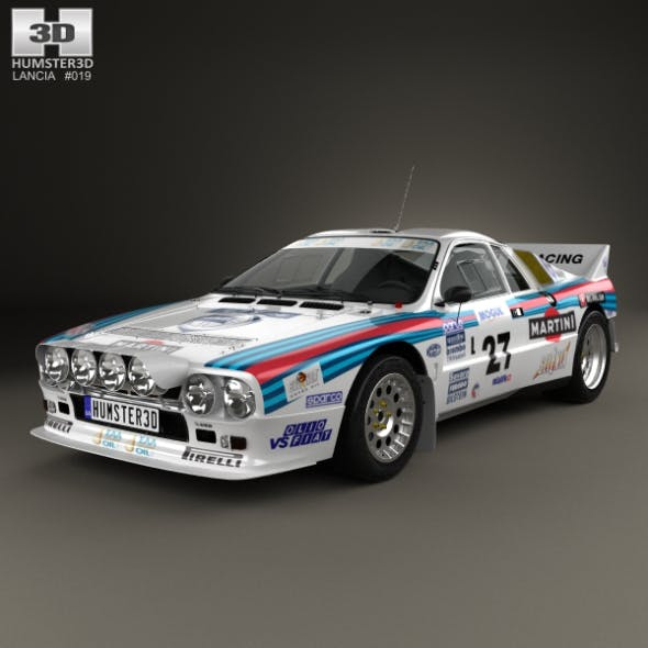 Lancia Rally 037 WRC Group B 1983 - 3DOcean Item for Sale