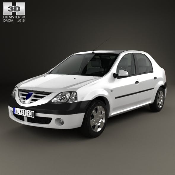 Dacia Logan with HQ interior 2004 - 3DOcean Item for Sale