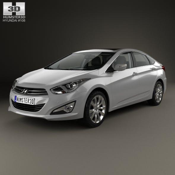 Hyundai i40 sedan with HQ interior 2011 - 3DOcean Item for Sale