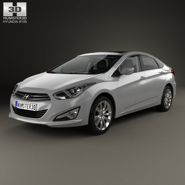 Hyundai i40 sedan with HQ interior 2011