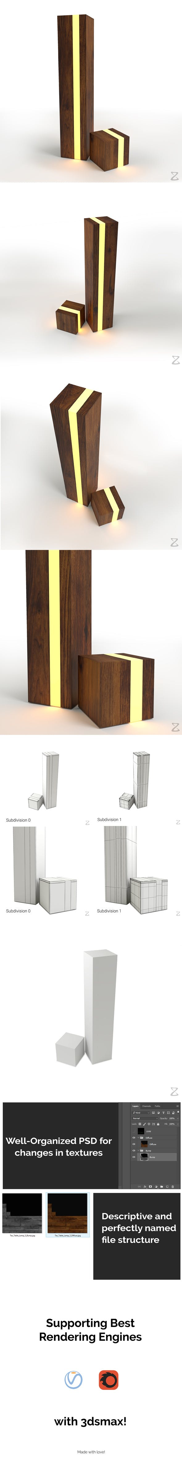 Table Lamp 5 - 3DOcean Item for Sale
