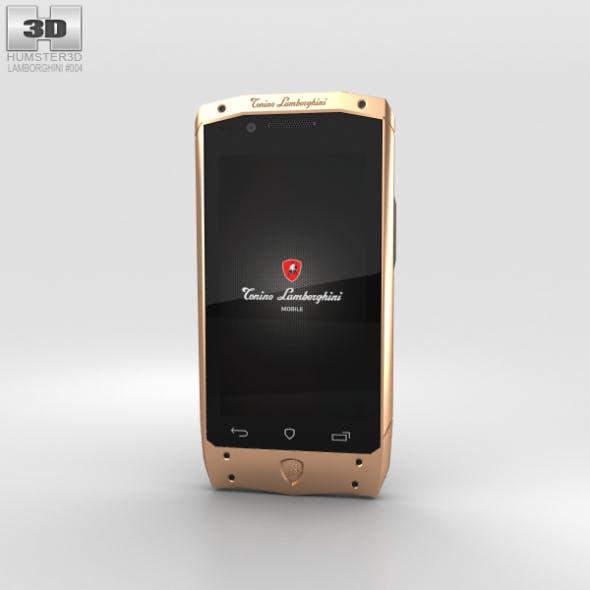 Tonino Lamborghini Antares Rose Gold Black Leather - 3DOcean Item for Sale
