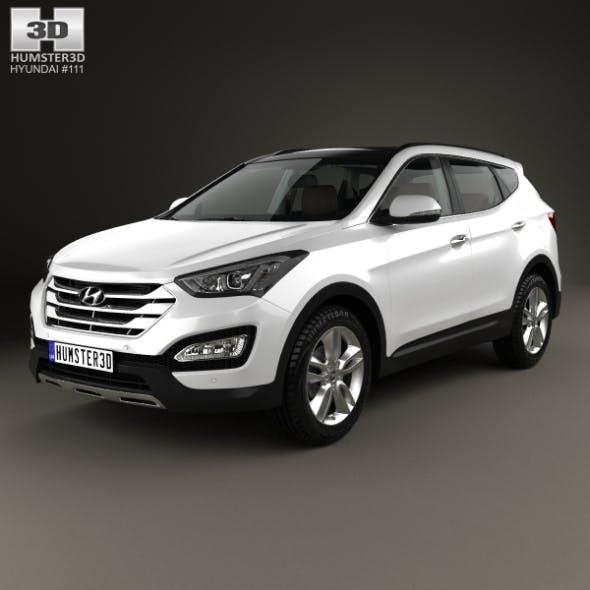 Hyundai Santa Fe with HQ interior 2014 - 3DOcean Item for Sale