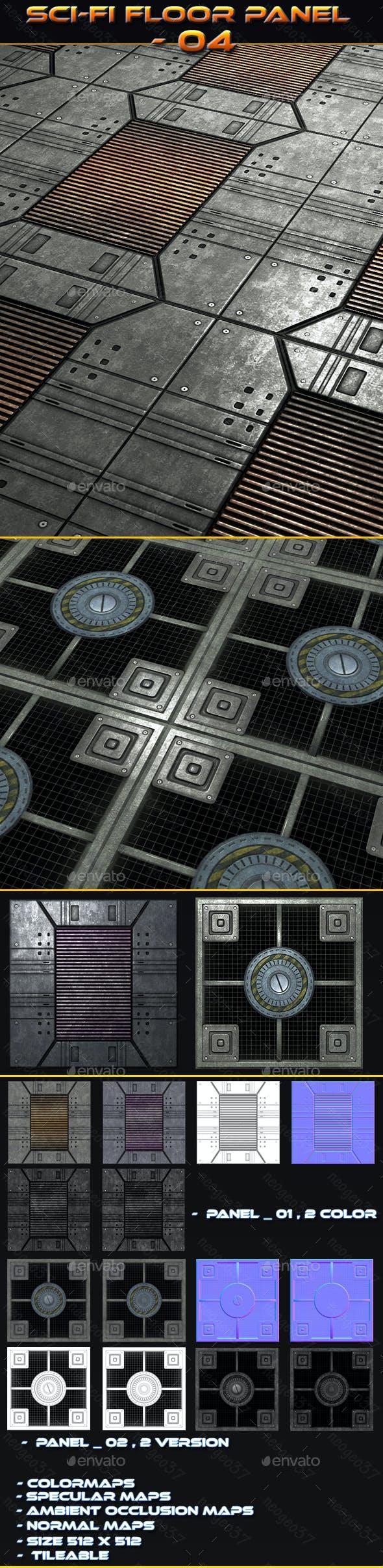 Sci-fi Floor Panel 04 - 3DOcean Item for Sale