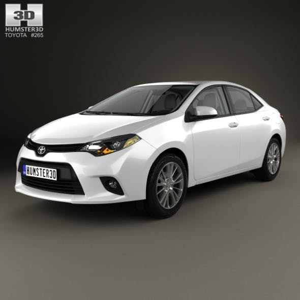 Toyota Corolla LE Eco (US) with HQ interior 2013 - 3DOcean Item for Sale
