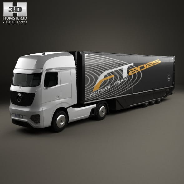 Mercedes-Benz Future Truck with Trailer 2025 - 3DOcean Item for Sale
