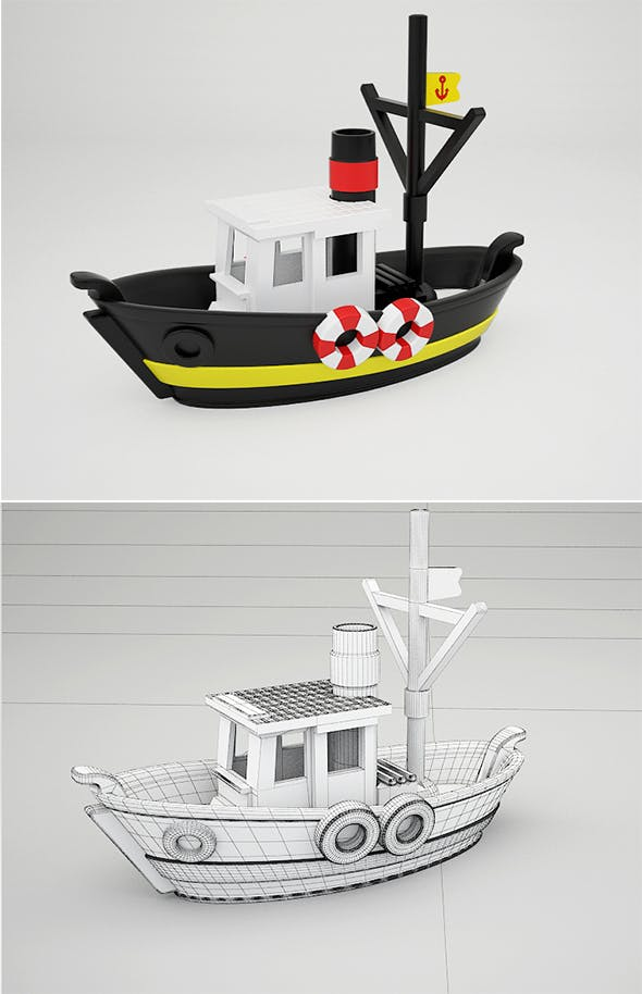 Toy boat Vol.2 - 3DOcean Item for Sale