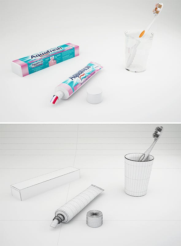 Toothpaste - 3DOcean Item for Sale