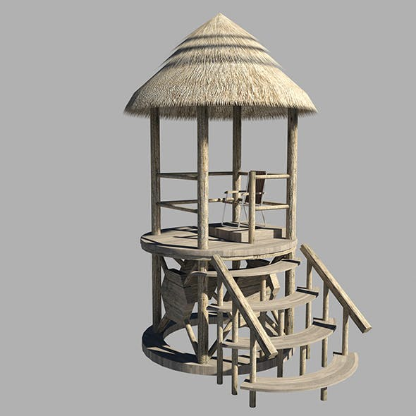 Lifeguard Tower 3d Model - 3DOcean Item for Sale