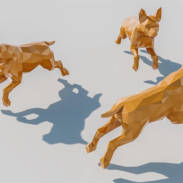 Lowpoly Dog 002