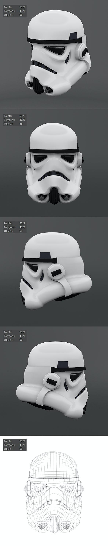 Stormtrooper 3D Moldes - 3DOcean Item for Sale
