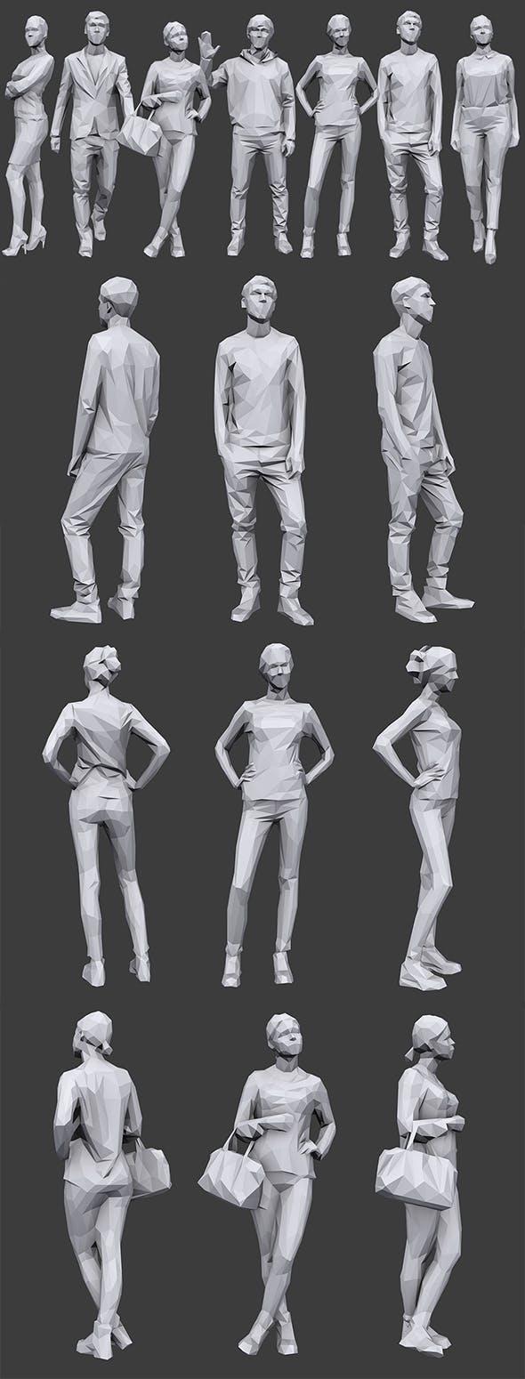 Lowpoly People Casual Pack Vol.11 - 3DOcean Item for Sale