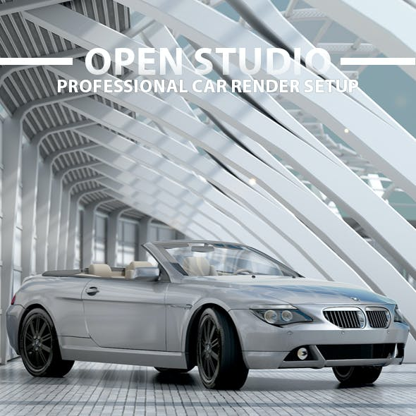 Open Professional Car Render Setup